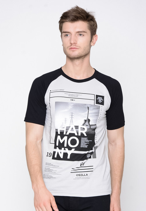 Osella Man T-shirt print harmony grey Grey