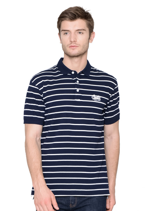 Osella Man Polo Shirt man stripe navy - white Navy