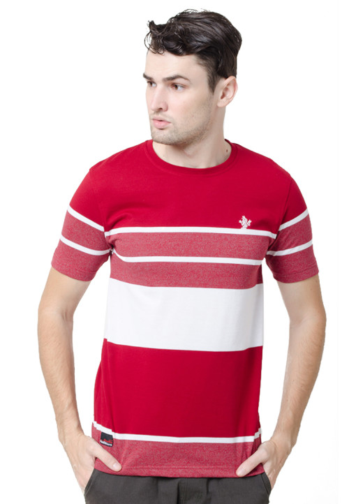 Osella ManOsella Man T-Shirt Stripe Burgundy