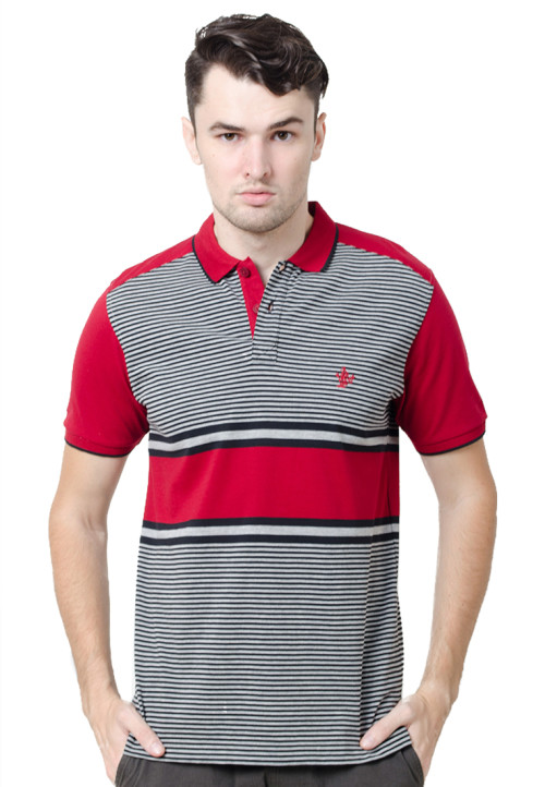 Osella ManOsella Man Polo Shirt Stripe Red