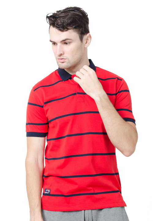 Osella ManOsella Man Polo Shirt Stripe Red 2