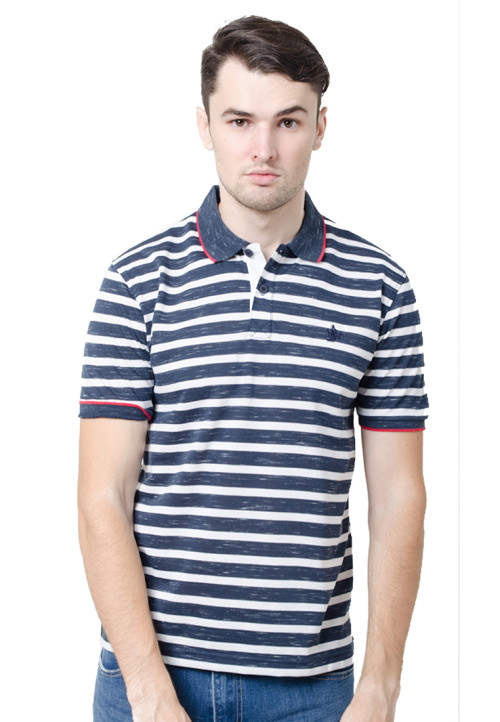 Osella ManOsella Man Polo Shirt Stripe Navy 2