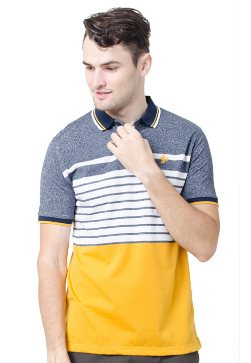 Osella ManOsella Man Polo Shirt Stripe Navy 1