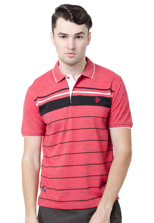Osella ManOsella Man Polo Shirt Stripe Grey