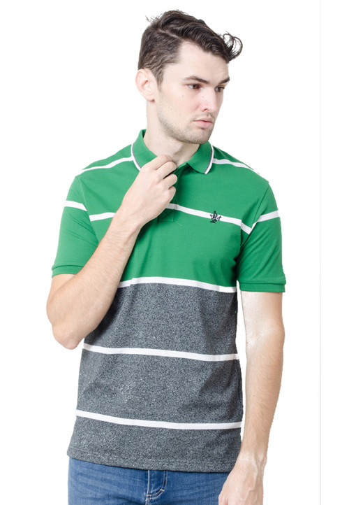 Osella ManOsella Man Polo Shirt Stripe Green