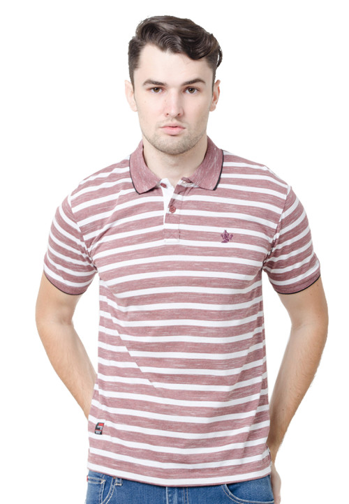 Osella ManOsella Man Polo Shirt Stripe Burgundy 3