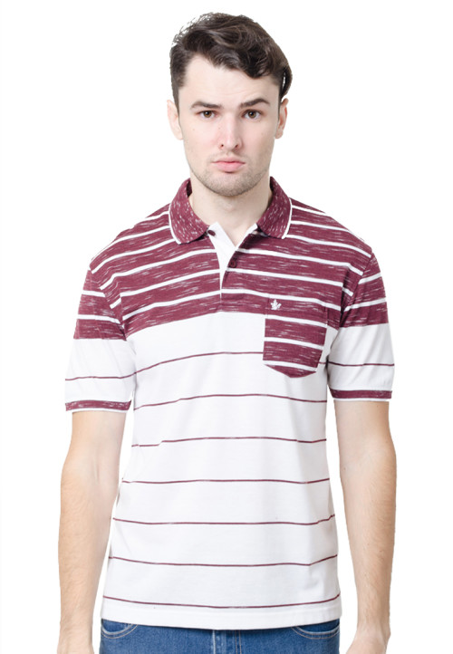 Osella ManOsella Man Polo Shirt Stripe Burgundy 2