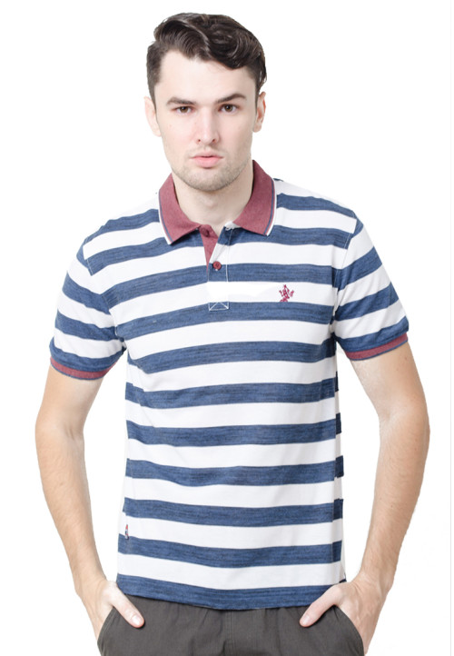 Osella ManOsella Man Polo Shirt Stripe Blue
