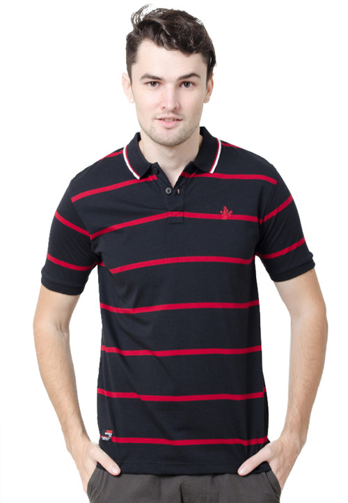 Osella ManOsella Man Polo Shirt Stripe Black 3