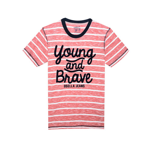 Osella Kids T-SHIRT STRIPE RED YOUNG AND BRAVE Red