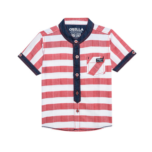 Osella Kids SHIRT SHORT STRIPE MERAH KTG SERONG S/S Red