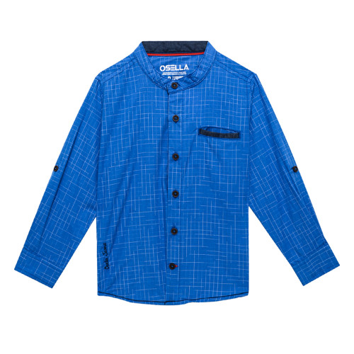 Osella Kids SHIRT LONG COTT SLUB BLUE L/S Royal Blue