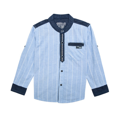 Osella Kids SHIRT LONG STRIPE BLUE KOMB. CHAMBRAY L/S Blue Bird