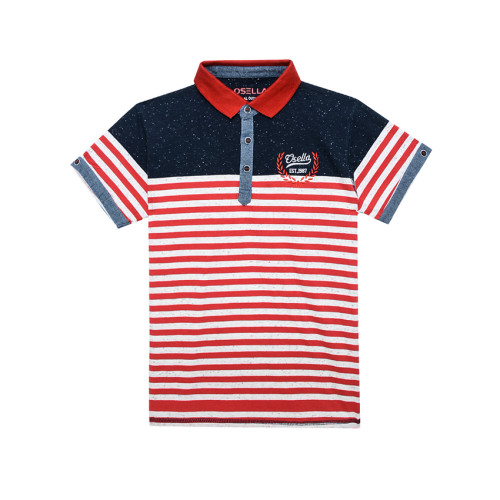 Osella Kids POLO STRIPE RED OSELLA KIDS BORDIR OSELLA EST 1987 Red