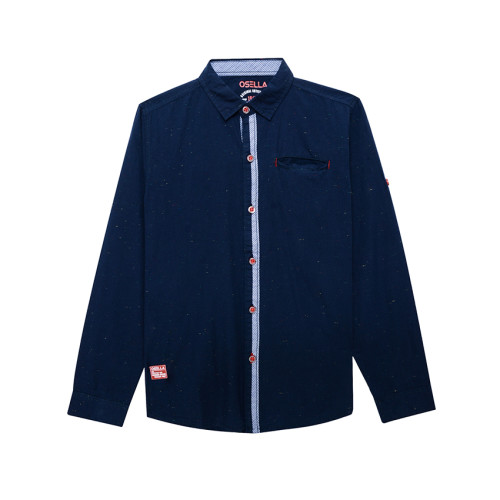 Osella Kids SHIRT LONG SOLID SLUB KTG BOBOK 1 L/S Navy