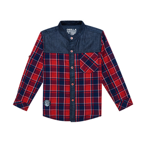 Osella Kids SHIRT LONG KOTAK MERAH C & S CHAMBRAY L/S Red