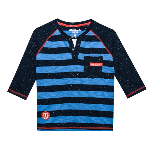 Osella Kids T-SHIRT STRIPE BLUE OSELLA KIDS RAGLAN NAVY Blue
