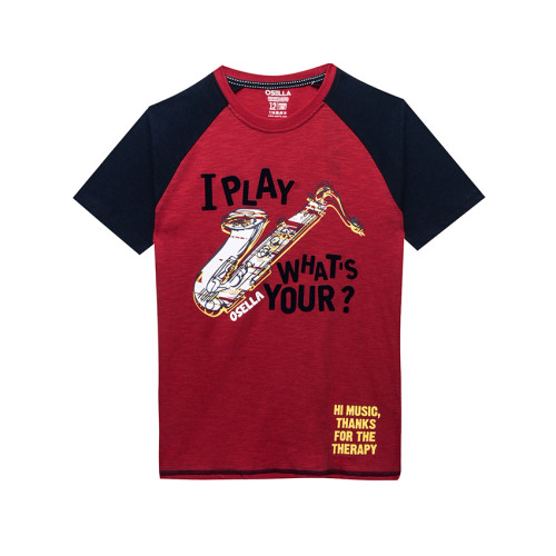 Osella Kids T-SHIRT SOLID OSELLA KIDS I PLAY WHATS YOUR? Red