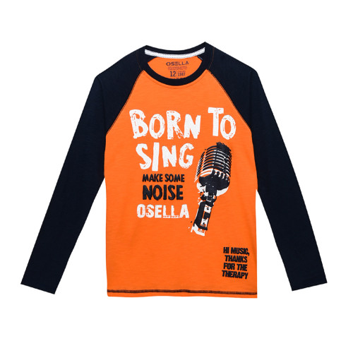 Osella Kids T-SHIRT LONG PRINT ORANGE OSELLA KIDS BORN TO SING Orange