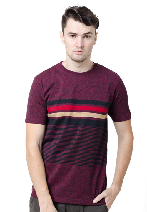 Osella ManOsella Man T-Shirt Stripe Oxblood