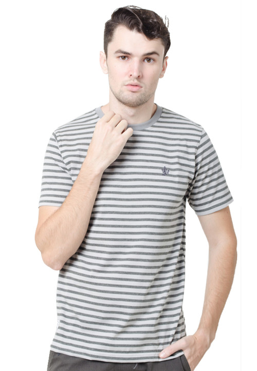 Osella ManOsella Man T-Shirt Stripe Dark Grey