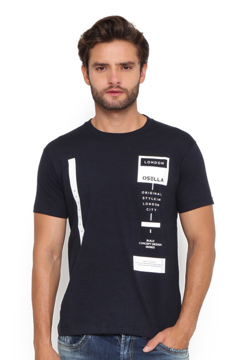 Osella Man T-Shirt Osella Flocking Navy Indigo