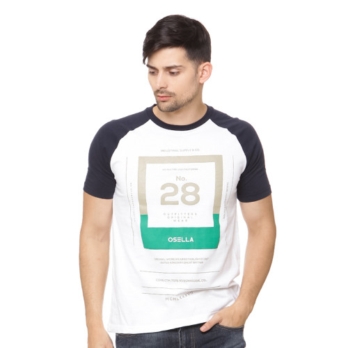 Osella Man T-shirt print 28 outfitters original wear putih White