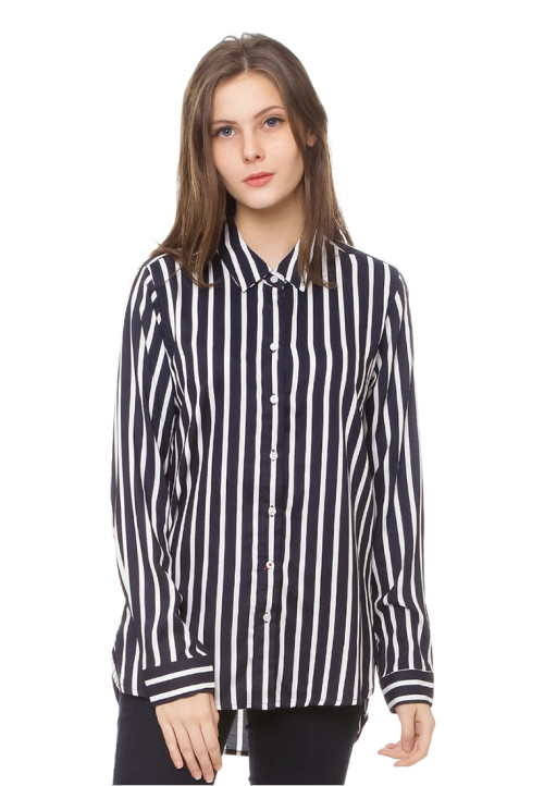 Osella Woman stripe shirt Navy
