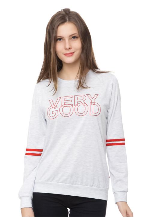 Osella Woman very good' slogan tshirt grey