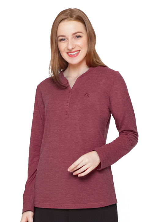 Osella Woman T-Shirt Thermal Ls Red