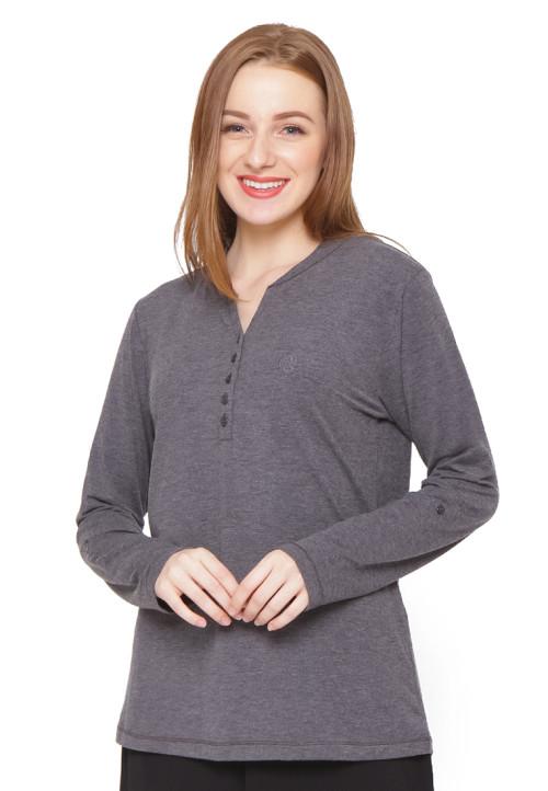 Osella Woman T-Shirt Thermal Ls Black