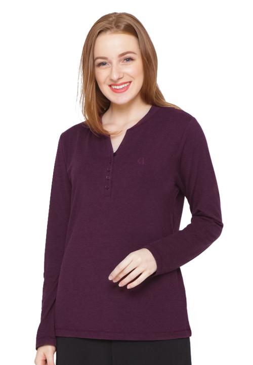 Osella Woman T-Shirt Thermal Ls Oxblood