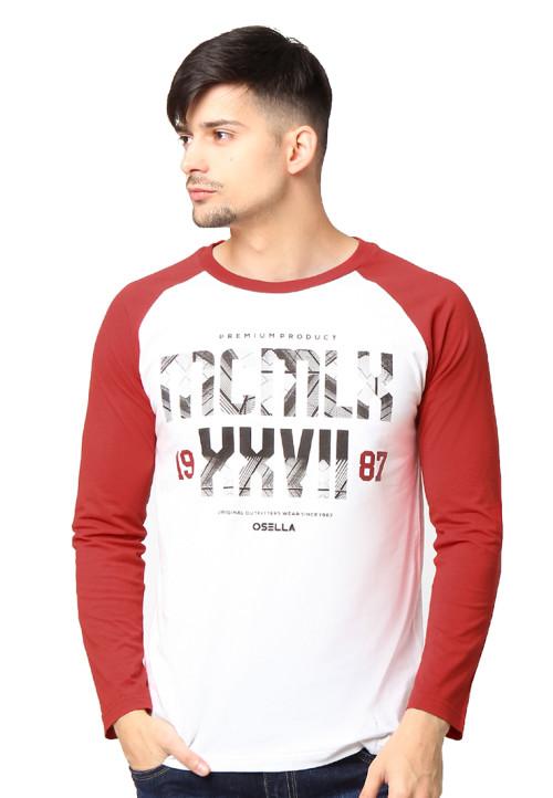 Osella Man T-Shirt Single Jersey Print Mcmlx White