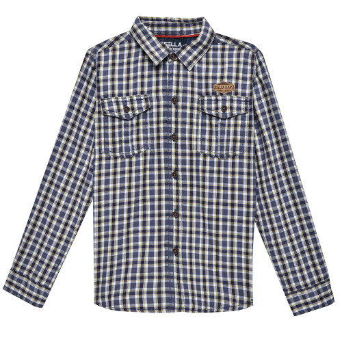 Osella Kids Shirt Long Kotak 02 L/S Grey Yellow