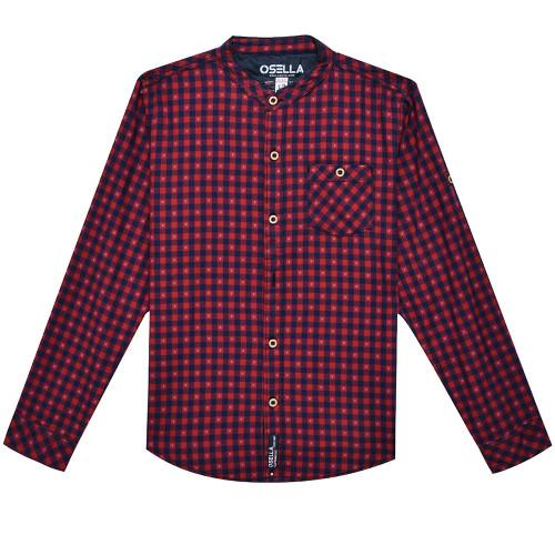 Osella Kids Shirt Long Kotak Krah Sanghai Komb. L/S Red