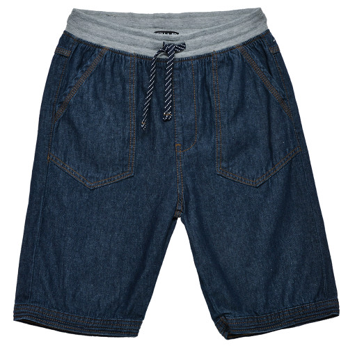Osella Kids Pants Solid Ban Rib Double Kantong 02 Dark Blue Grey