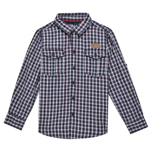 Osella Kids Shirt Long Kotak L 01 L/S Grey Red