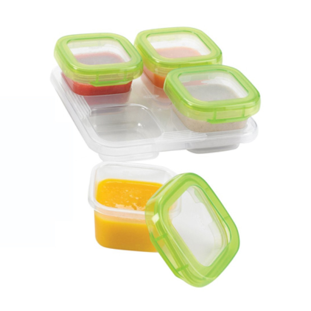 OXO Tot Baby Blocks Freezer Storage Containers (4oz / 120 Ml)   Green