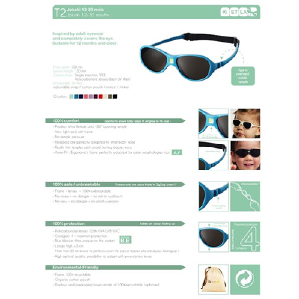 c6879c7d8e43 ki et la jokaki babies  sunglasses (12-30m) – menthol green. Download Image  1000 X 1000