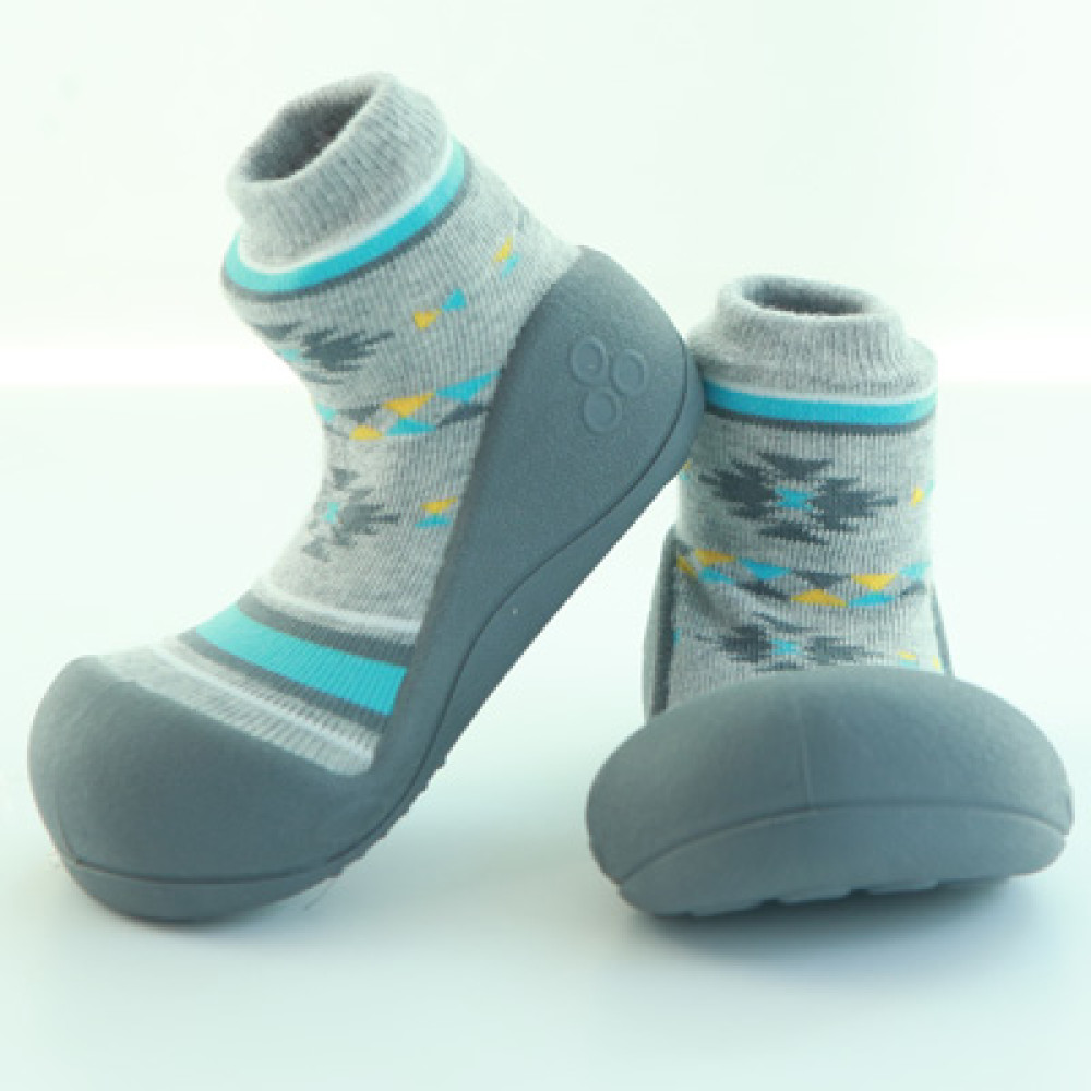 Attipas Baby Toddler Shoes Socks Nordic Gray Upspring Walking Wings Blue