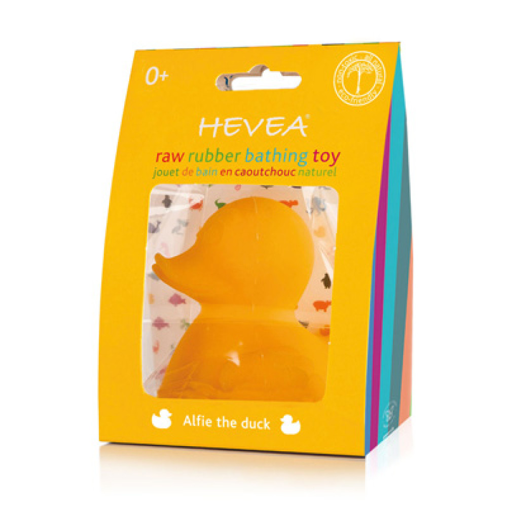 Hevea Planet Natural Rubber Teether And Bath Toy Alfie The Duck