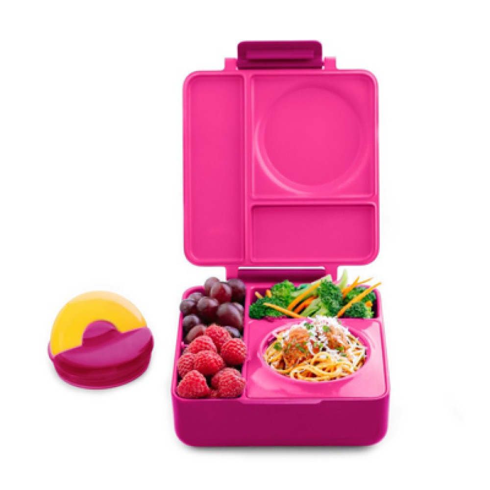 Omiebox Bento Lunch Box Pink Berry