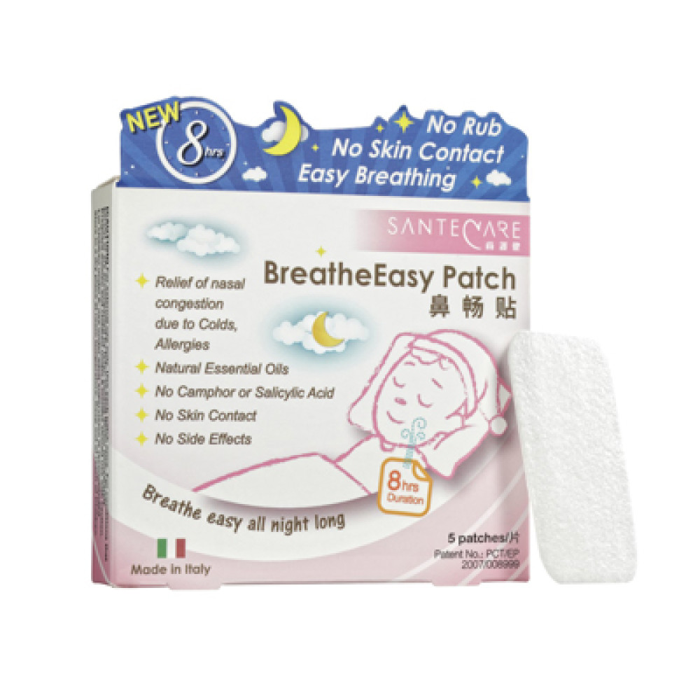 SanteCare BreatheEasy Patch - Clears Blocked Nose Rapidly