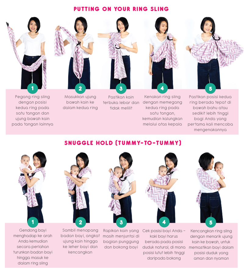 How to Wear - Baby Ring Sling