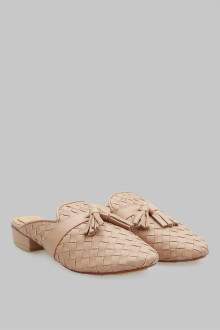 Mules Wicker Tan Tessel