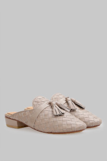 Mules wicker Cream Tassel