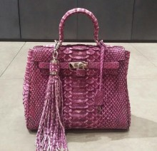 Bag Hermes Purple Wash (Sisik Besar)