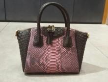 Bag Octagonal Medium Pink Bercak Comb. dark Brown