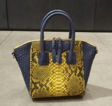 Bag Octagonal Small Yellow Bercak Comb. Blue