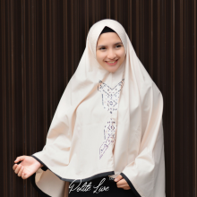 BUTTERFLY KHIMAR CREAM